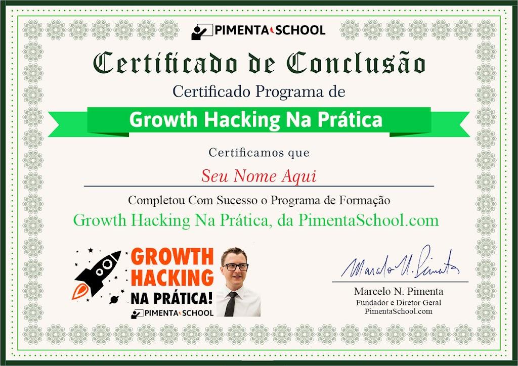 Certificado Growth Hacking Na Prática