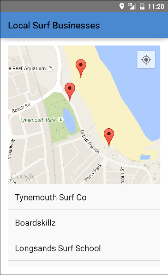 Surfing in Tynemouth- screenshot