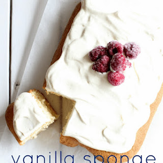 Vanilla Sponge Cake Slice.