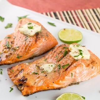 Grilled Steelhead Trout with Chili-Rosemary-Lime Butter