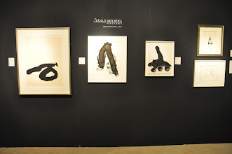 Photo: Drawings by Robert Motherwell (from the 1980s) at Jerald Melberg Gallery