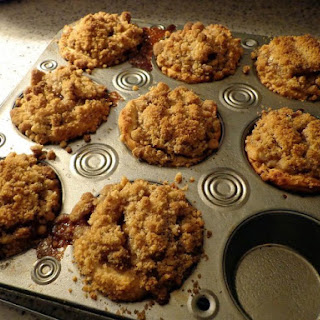 Jumbo Blueberry Crumb Muffins.