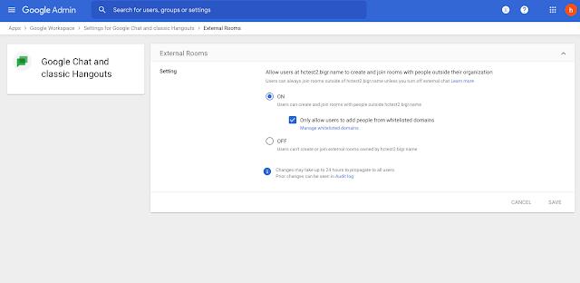 Google Meet y Chat