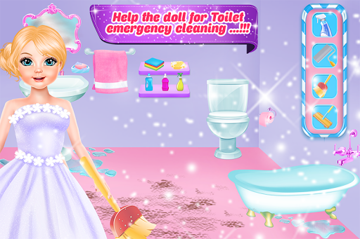 Doll house repair & bathroom cleaning girls games Apk Download Free for PC, smart TV