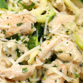 1. Zucchini Chicken Alfredo