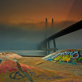 Foggy color by Hugo Marques - Buildings & Architecture Bridges & Suspended Structures