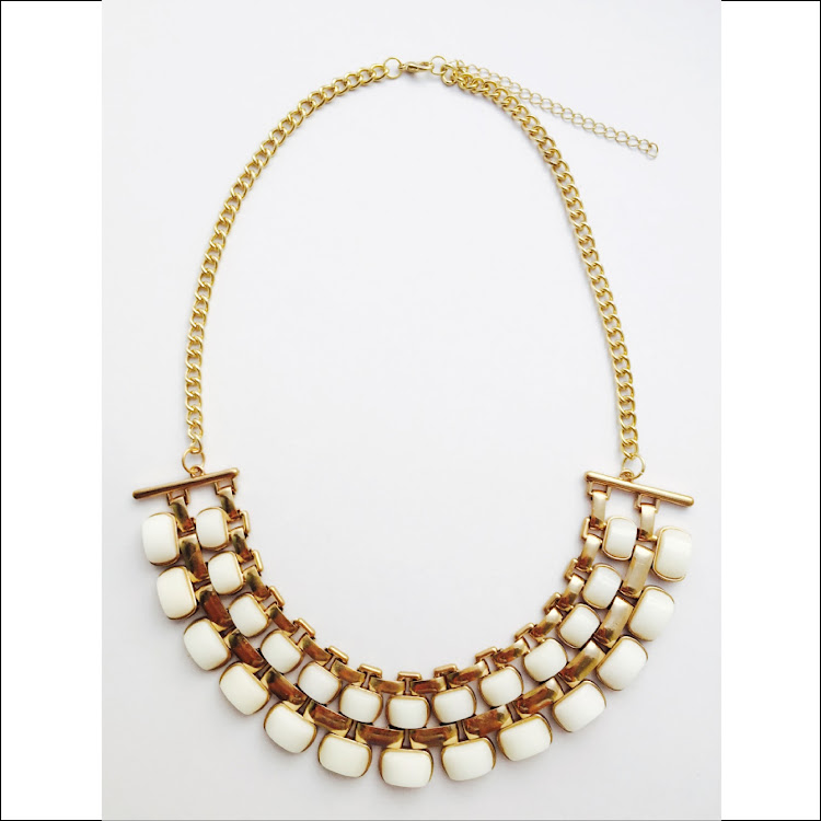 N004 - W. Frost White Palette Necklace
