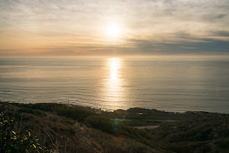Photo: Setting sun from Lighthouse at Cabrillo National Monument