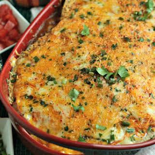 Cheesy Turkey Enchilada Lasagna.