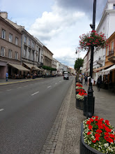 """Photo: The street to the old city center. Everything looks so new and clean because it is. """"Old"""" is a misnomer."""