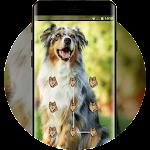 Cute puppy pet lock theme Icon