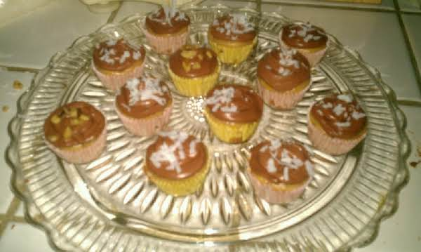 Swedish Nut Cake Made Into Cupcakes With Fudge Frosting By Lyn Starr..excellent!!