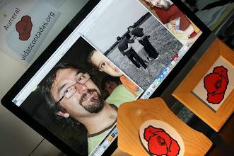 Photo: Ricardo Laspidea. Pedazo de escultor de Nafarroa nos piropea como si eso le fuese a librar de que le demos más la brasa ;-P «Aurrera vidascontadas.org!!! Aupa Jaxinto. Zu beti norbaitek egin behar dituen gauzak... EGITEN!!! Sorte on laguna.» R.L.  http://es.wikipedia.org/wiki/Ricardo_Laspidea