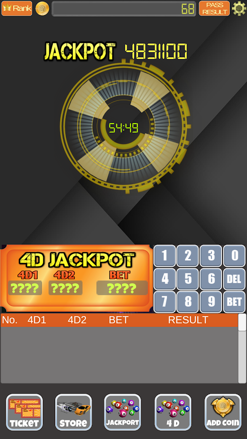 4D Live Lottery Game- screenshot