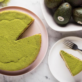Easy Matcha Avocado Cheesecake.