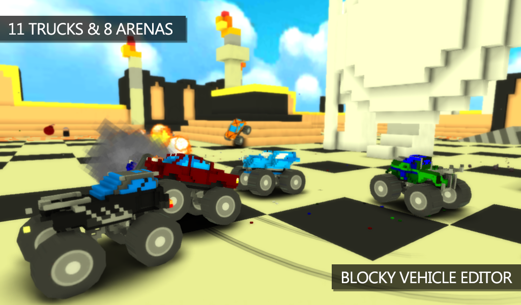 Blocky Monster Truck Smash Android Apps On Google Play