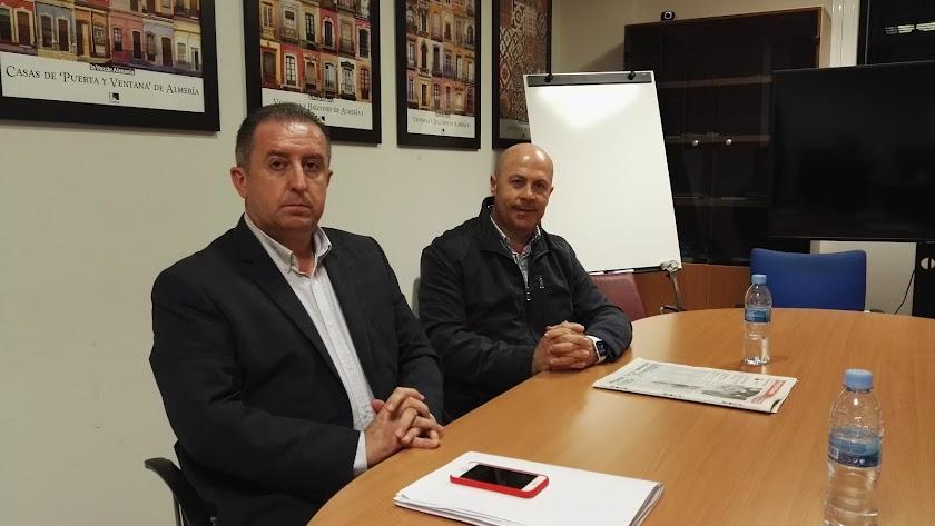 Los exconcejales de Vox, Francisco Barrionuevo y Antonio López.