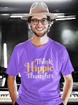 THINK HIPPIE THOUGHTS | Lilac Printed Unisex T shirt