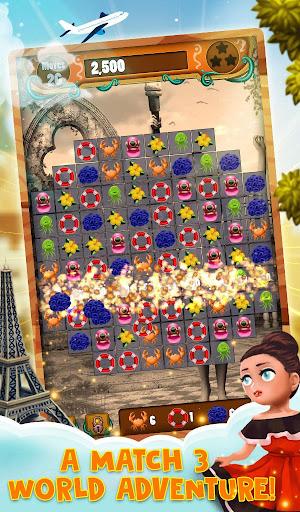 Match 3 World Adventure - City Quest apkpoly screenshots 16