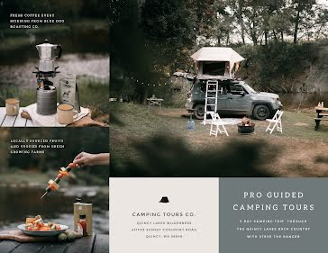 Camping Tours Co - Collage template