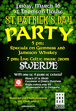 Photo: Large poster for St. Patrick's party