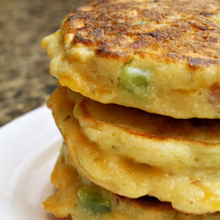 Ham and Cheese Corn Cakes