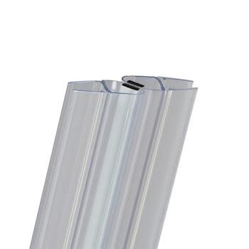 Lot de 2 joints d'étanchéité magnétiques à 45° pour porte de douche