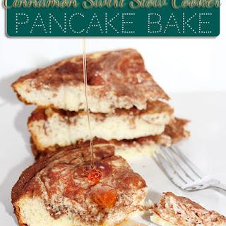 Cinnamon Swirl Slow Cooker Pancake Bake