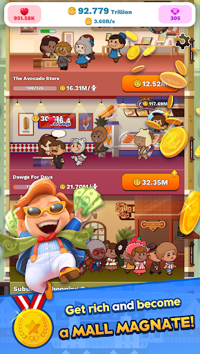 Tap Tap Plaza - Mall Tycoon  captures d'écran 1