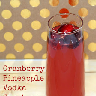 Cranberry Pineapple Vodka Spritzer.
