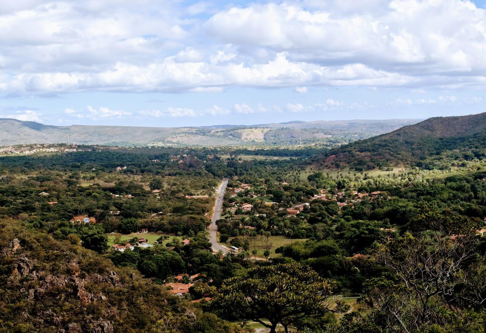 Uma das vistas que se tem da Trilha dos Escravos, na Serra do Cipó