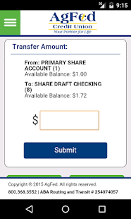 AgFed Credit Union Mobile- screenshot thumbnail