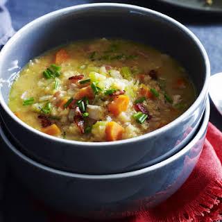 Bacon, Lentil and Vegetable Soup.