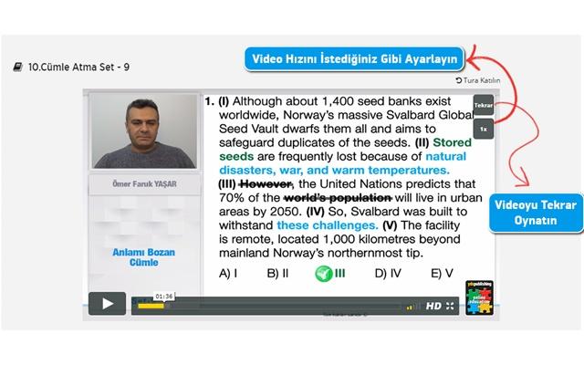 YDS Online Eğitim Videoları: Hız & Tekrar