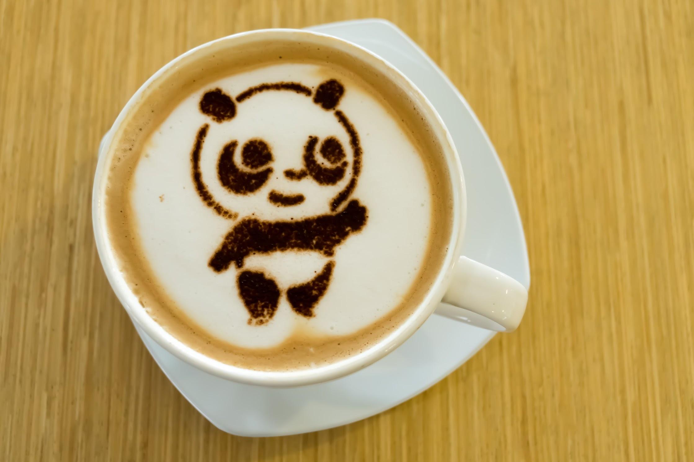 Singapore River Safari Giant Panda cappuccino