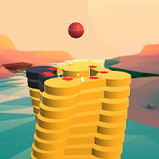 The Stack Tower : Ball Fall game 3d stick blocks \u2604