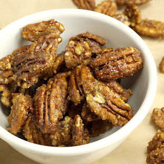 Quick Candied Pecans.