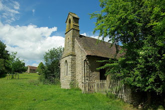 Photo: Broadstone Church with Broadstone Farm just up the hill.