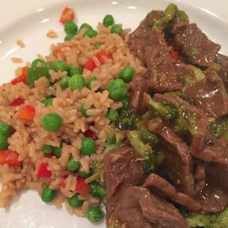 Beef and Broccoli with Veggie Rice