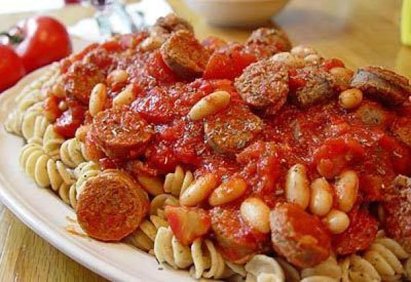 Rotini With Italian Sausage And Cannellini Beans Recipe