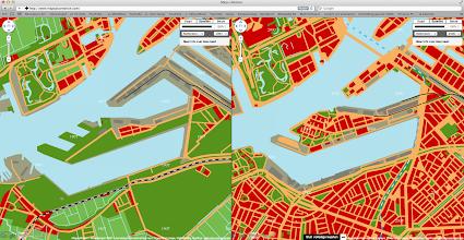 Photo: [2011 ©-project Mapping History van Museum Rotterdam en Maps+Motion] - http://www.museumrotterdam.nl en http://www.mapsplusmotion.com - click op laatstgenoemde site op 'Toon de kaarten' en stel de stad en de jaartallen in - op voorliggende foto staat de vergelijking tussen het Katendrecht van 1907 (met nog geen havengerelateerde activiteiten aan de recent gegraven Maashaven) en 2000 - de bedoeling van Stichting Historisch Katendrecht is dat ook de andere voor Katendrecht belangrijke perioden zullen worden toegevoegd en zo mogelijk ook dat op perceelniveau informatie opgevraagd kan worden.