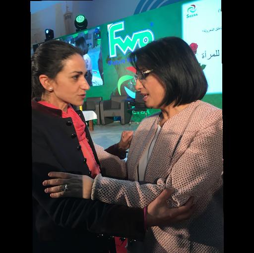 Mme Zerouati avec Myriam Fournier Kacimi.
