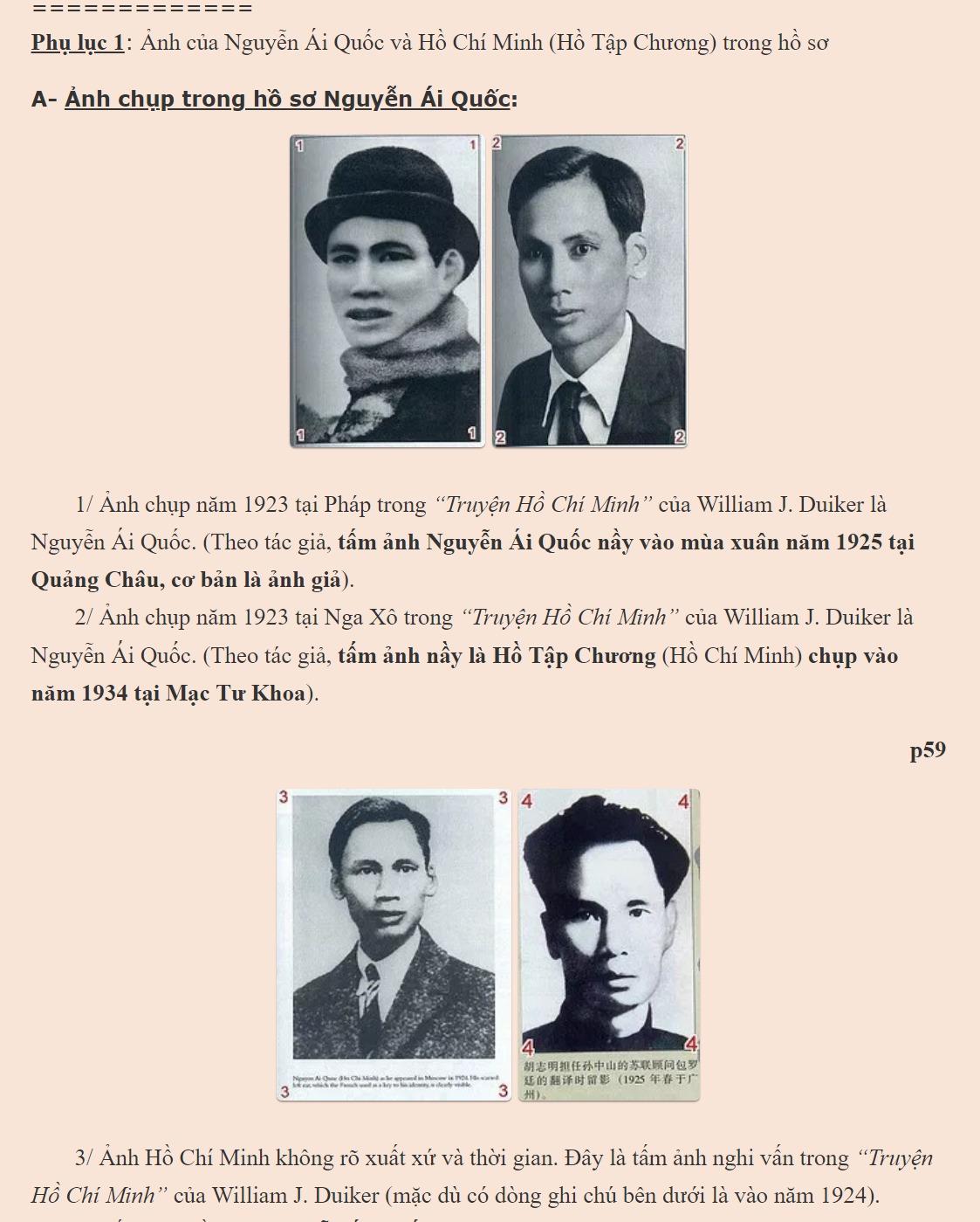 Những chứng cớ lịch sử bịp bợm của 'Hồ Chí Minh sinh bình khảo ...