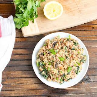 Mushroom Kale Quinoa Risotto.