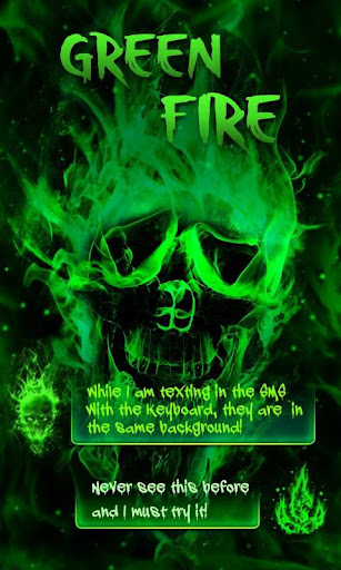 GO SMS PRO GREEN FIRE THEME