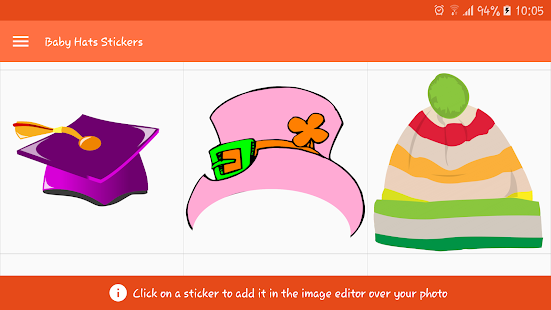 Baby Hats Stickers- screenshot thumbnail