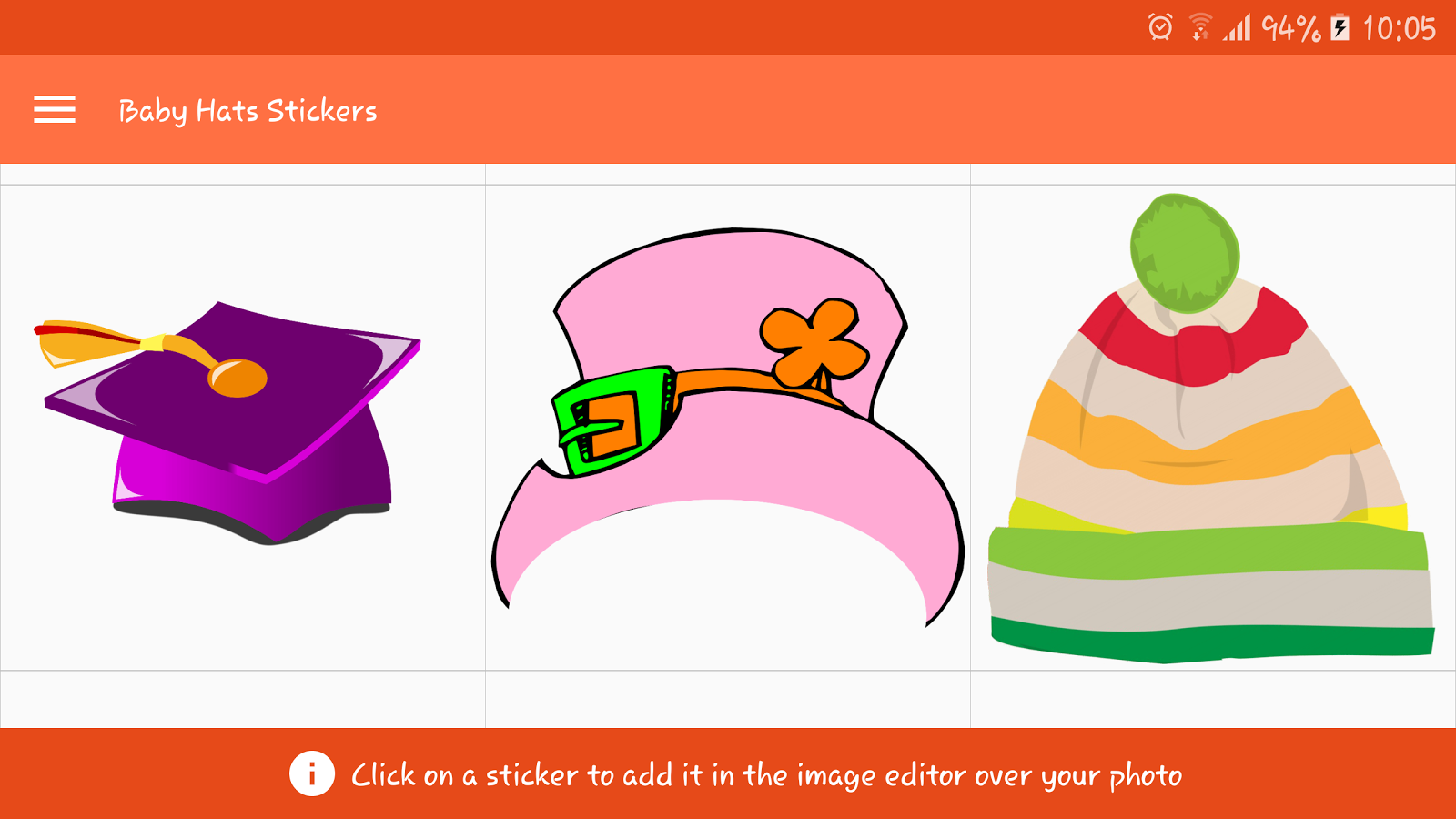 Baby Hats Stickers- screenshot