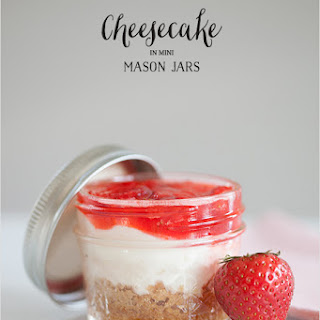 Cheesecake In Mini Mason Jars + Free Recipe Printable
