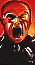 Photo: Die Wut, Öl auf Leinwand, 2003, 40 x 80 cm
