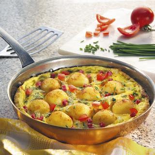 Mini-Kartoffelknödel Ei-Pfanne